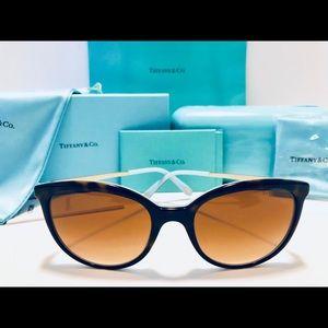 Tiffany & Co. Sunglasses Havana/Blue/Gold NTW 54mm